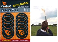 clay pigeon exploding targets